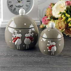 weihnachten keramik dose bonboniere schneemann mit deckel. Black Bedroom Furniture Sets. Home Design Ideas