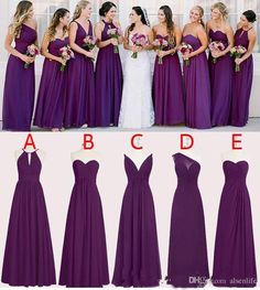 Perfect Chiffon Purple Bridesmaid Dresses 2017 Floor Length A Line Long Wedding Bridesmaid Dresses Custom Made Sleeveless Dark Purple Bridesmaid Dresses, Vintage Bridesmaid Dresses, Designer Bridesmaid Dresses, Bridesmaid Dresses Online, Wedding Bridesmaids, Bridal Dresses, Royal Purple Dress, Royal Purple Wedding, Gold Wedding