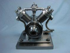 90 degree V-twin engine