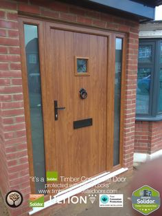 Solidor Composite Doors by Timber Composite Doors, the largest range of Timber Core Composite Doors, Stable Doors available fitted Nationwide. All with Ultion Locks as Standard, 12 months Finance available on all doors Never beaten on price Back Doors, Entry Doors, Entrance, Composite Front Door, Contemporary Front Doors, Smart Door Locks, Timber Door, Golden Oak, Side Panels
