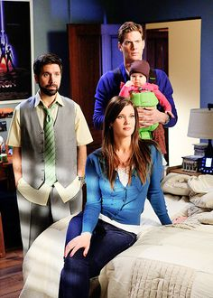 Devon, Ellie and Clara Woodcomb, Morgan Grimes <---- How many people are in my room? Spy Shows, Best Tv Shows, Best Shows Ever, Chuck Sarah, Chuck Bartowski, Sarah Lancaster, Zachary Levi, Getting Him Back, Nerd Herd