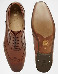 €147.06/€95.59 - UK9 - Image 3 of H By Hudson Francis Oxford Brogue Shoes