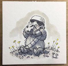 """Персонажи """"Звездных войн"""", изображенные как Вини Пух и его друзья (12фото) » Картины, художники, фотографы на Nevsepic"""