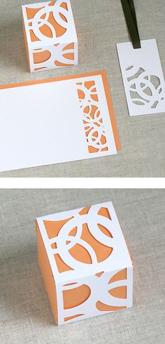 I love this idea of simple stationary just using good design and negative space