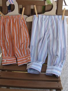 Baby pants made from men's shirts. $18 Check out other items on my Daddy's Button Shirt board. Both sold last year.