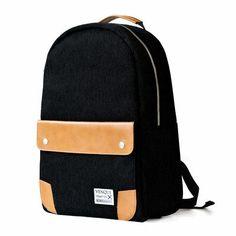 Sleek black backpack perfect for work or school!