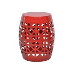 Shop for Artisan Red Garden Stool/ Side Table. Get free shipping at Overstock.com - Your Online Furniture Outlet Store! Get 5% in rewards with Club O!