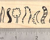 Cat and Dog Tails Rubber Stamp, Poodle, Striped Tail, Bushy Tail  J18617 WM