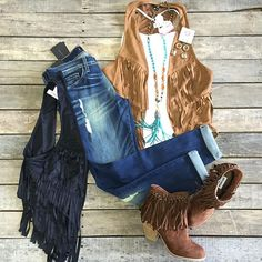"""""""#NEWARRIVALS #FringeVest $26.99 S-L #RacerBack #Cami $12.99 O/S #FlyingMonkey #Distressed #Boyfriends $79.99 24-30 #NotRated #Ayita #Booties $64.99 7.5, 9.5, 10 #PinkPanache #Necklace $76.99 & #Earrings $19.99 We #ship! Call to order! 903.322.4316 #shopdcs #instashop #shoplocal #love #pink #fringe #style"""" Photo taken by @daviscountrystore on Instagram, pinned via the InstaPin iOS App! http://www.instapinapp.com (09/10/2015)"""