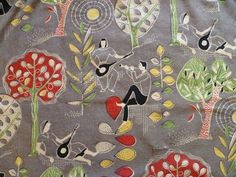 Mid-Century Beatnik Art.  Probably textile design.