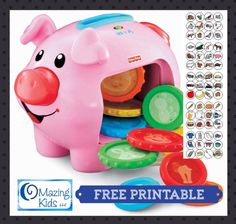{FREE Printable} 60 early vocabulary cards for the Fisher Price Laugh & Learn Piggy Bank Preschool Speech Therapy, Speech Language Therapy, Speech Therapy Activities, Speech And Language, Speech Pathology, Autism Activities, Language Activities, Shape Activities, Time Activities