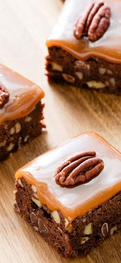Ultimate Turtle Brownies. The key to these turtle candy-inspired brownies is all in nailing the caramel.