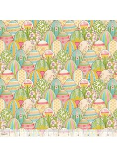 The Promise of Spring Colorful Find Beautifully Painted Easter Egg Fabric Decorated Eggs
