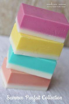 Handmade Luxury Sorbet Soap in lemon cream by MadisonAvenueSoaps, $10.00