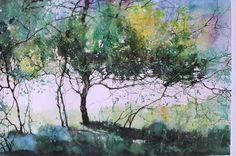 Z L Feng Watercolor Tree, Forest Art, Landscape Paintings, Watercolor Trees, Painter, Pastel Painting, Painting, Watercolor Landscape, Landscape Art