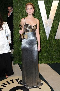 Jennifer Lawrence in Calvin Klein - Oscar '13 after party (this is what you should've worn for the whole night!)