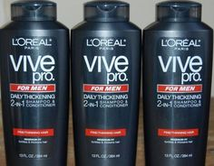 3 L'Oreal Paris Vive Pro for Men 2-in-1 Daily Thickening Shampoo Discontinued #LOreal