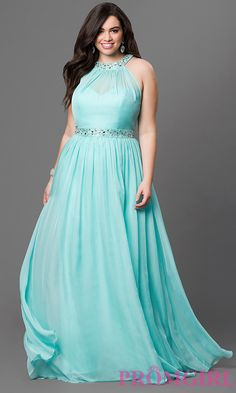 Full-Figure Dresses and Plus-Size Prom Gowns -PromGirl Plus Size Holiday Dresses, Plus Size Formal Dresses, Plus Size Gowns, Evening Dresses Plus Size, Lovely Dresses, Beautiful Gowns, Casual Plus Size Outfits, Full Figure Dress, Military Ball Dresses