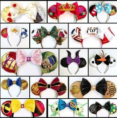 Great collection of Mickey Ears! Disney Diy, Diy Disney Ears, Disney Bows, Disney Crafts, Cute Disney, Disney Outfits, Disney Ears Headband, Disney Headbands, Diy Headband