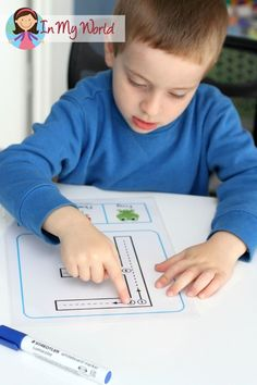 Back to School Preschool Centers - FREE Upper and Lower Case Letters with correct formation. For beginning writers, have children trace the lines with their fingers first so that they can learn the path of motion.