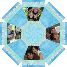 blue lace by Ivelyn - Straight Umbrella Insert your own photos
