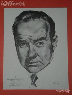 Broderick Crawford All The Kings Men Academy Award Portrait...