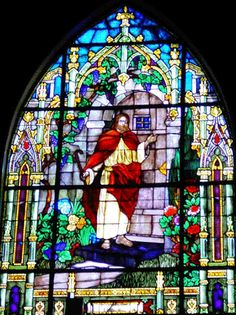The main window at The Church of the Lighted Window, La Canada, CA