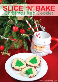 Soft, sweet and buttery sugar cookies with a bright green Christmas tree in the middle. Slice 'n' Bake Christmas Tree Cookies. Aren't they cute! And they're fairly simple to make. I got to use my new mixer for the first time with this recipe. My husband gave it to me for my birthday last week. …