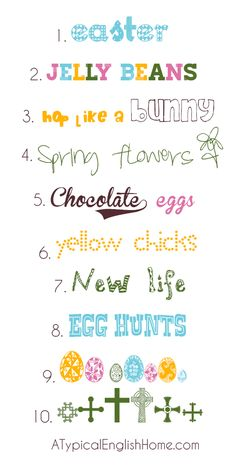 A Typical English Home: More #Easter Fonts #Typography #Graphic Design