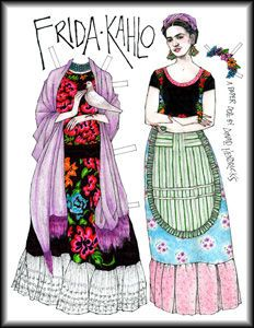 frida paper dolls - i like the idea of artist paper dolls - would be great to do this with artists where costume is heavily involved in their practice - such as Cindy Sherman - yr 7-11
