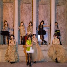 All the girl models in Mischka Aoki fall 2014 kids and teenager fashion collection photographer: Lee Clower