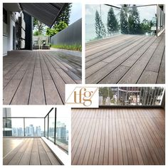Build a beautiful patio deck perfect for repose and family bonding moments by upgrading your outdoor flooring and decking. Outdoor Decking, Outdoor Flooring, Outdoor Decor, Decking Supplies, Wood Composite, Balcony Deck, Decking Material, Big Group, Singapore