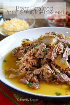 Beer Braised Pork Shoulder Roast