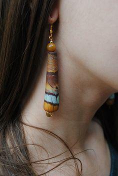 orecchini in fimo - polymer clay earrings