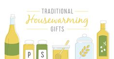 A bottle of wine, olive oil and honey, are traditional housewarming gifts. Check out our full list + fun printable tags to go along with your gifts!