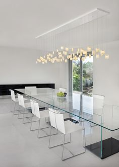 shakuff tulip modern dining room chandelier made from fused glass would look great with contemporary - Contemporary Dining Room Chandeliers