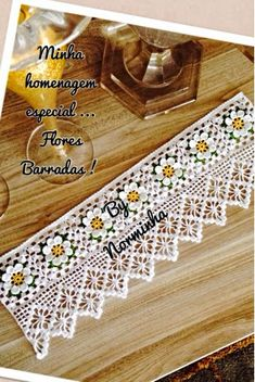 Crocheted edging free pattern-this is added to another pattern Crochet Boarders, Crochet Lace Edging, Crochet Chart, Crochet Squares, Thread Crochet, Crochet Trim, Filet Crochet, Irish Crochet, Crochet Doilies