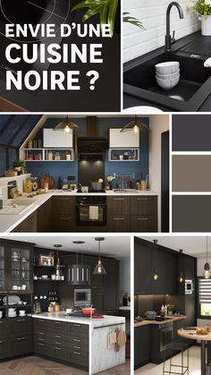 La couleur noire dans une cuisine lumineuse, donne instantanément un côté chic et architecturé. Découvrez nos conseils pour jouer avec cette couleur sombre tout en conservant la luminosité de votre pièce ! Sombre, Jouer, Architecture, Desktop Screenshot, Chic, Bright Kitchens, Color Black, Tips, Arquitetura