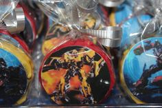 Cookies at a Transformers Birthday Party #transformers #cookies