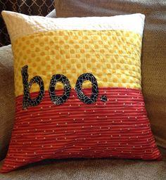 Halloween pillow for Wyatt by HoosierToni, via Flickr