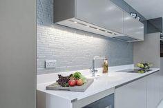 DecoGlaze glass splashback Stylish Kitchen, Splashback, Bathroom Lighting, Mirror, Glass, Kitchens, Display, Furniture, Home Decor