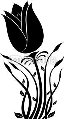 flower silhouette vector