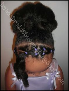 Mixed Little Girl Hairstyles  Cornrow Style on Natural Hair