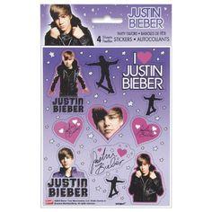 Justin Bieber Stickers [4 Sheets Per Pack]