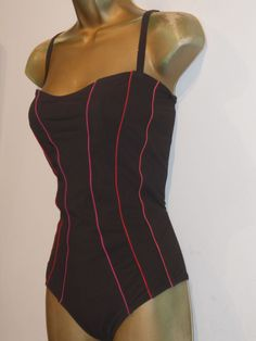 d5ae760b42e84 LADIES BROWN   PINK MARKS   SPENCER SWIMSUIT SIZE 16 CONTROL SWIMWEAR   fashion  clothing