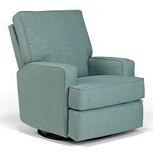 Best Chairs Kersey Swivel Glider Recliner  Eucalyptus