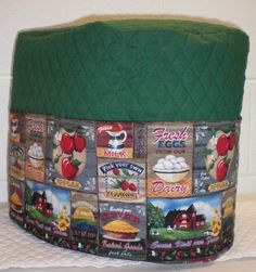 Check out this item in my Etsy shop https://www.etsy.com/listing/224871453/hunter-green-quilted-farm-fresh-cover