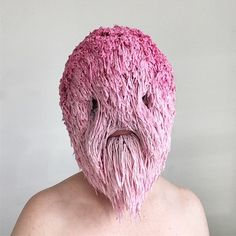 Threadstories is an artist based in Ireland who crafts both engrossing and humorous textile masks. The wearable works take on new characteristics in motion, which she displays on the Threadstories … Textiles, Crochet Mask, Masks Art, Art Tips, Mask Design, Textile Art, Art Pictures, Wearable Art, Art Inspo
