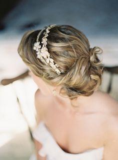 #hair-accessories, #hairstyles, #headband  Photography: Steve Steinhardt Photography - stevesteinhardt.com Day Of Coordination: Avante Events - avanteevents.com/  Read More: http://www.stylemepretty.com/2013/05/20/figueroa-mountain-farmhouse-wedding-from-steve-steinhardt/