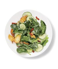 Spinach Salad With Bacon and Croutons | RealSimple.com